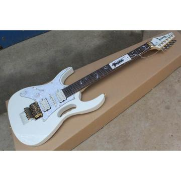 Custom Shop Left Handed Ibanez Jem7v White Steve Vai Guitar