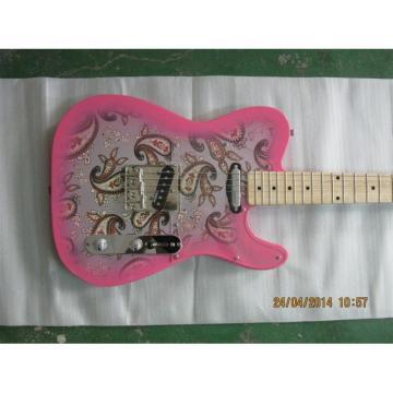 Custom Fender 1969 Reissue Paisley Telecaster Guitar Floral