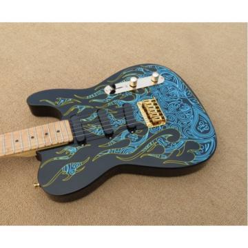 Custom Paisley Fender James Burton  Blue Fire Telecaster Guitar