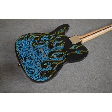 Custom Shop Paisley Fender James Burton  Blue Fire Telecaster 6 String Guitar Floral