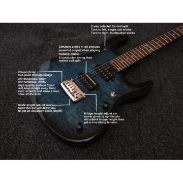 Custom Music Man John Petrucci Ernie Ball JP6 Ocean Blue Guitar