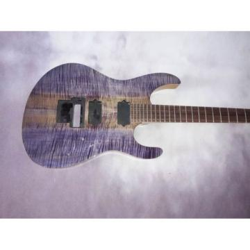 Custom Shop Suhr Purple Gray Burl Body Flame Maple Guitar