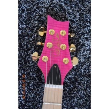 Custom Shop Paul Reed Smith Bonnie Pink Tiger Maple Top Fhole 6 String Guitar