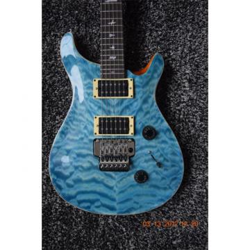 Custom Shop Paul Reed Smith Blue Quilted Maple Top Flame Maple Neck Guitar