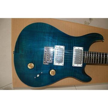 Custom PRS Paul Reed Smith Tiger Blue Maple Top Guitar