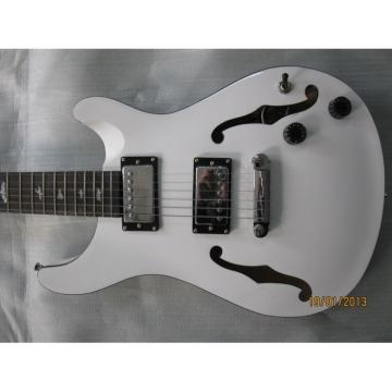 Custom Paul Reed Smith White Hollow Body Guitar