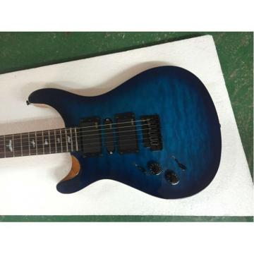 Custom Left Handed Paul Reed Smith Grayish Blue Burst Quilted Maple Top Guitar