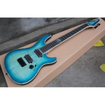 Custom Built Regius 7 String Transparent Blue Mayones Guitar Japan Parts