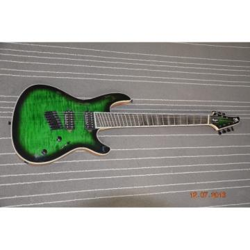 Custom Built Regius 7 String Green Quilted Duvell Bolt On Mayones Guitar