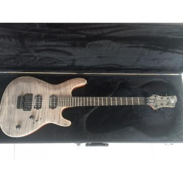 Custom Built Regius 6 String Gray Tiger Maple Top Bolt On Mayones Guitar