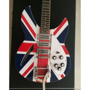 Custom Shop Rickenbacker British Flag 380 With Bigsby Tremolo Guitar