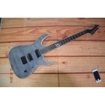 Custom Built Regius 6 String Gray Flame Maple Top Finish Mayones Guitar