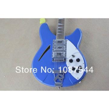 Custom Shop Rickenbacker Blue 360 Mono and Stereo Guitar