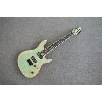 Custom Built Regius 7 String Denim Teal Maple Top Guitar Mayones Japan Parts