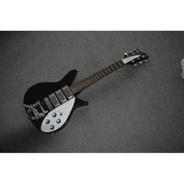Custom Shop Rickenbacker 325C64 21 Inch Scale Length Jetglo Guitar Neck Through Body