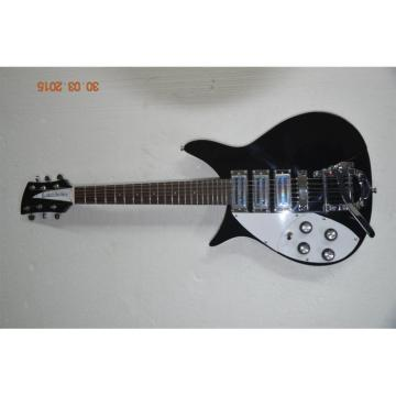 Custom Shop Left Handed Rickenbacker 325C64 21 Inch Scale Length Jetglo Guitar