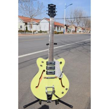Project Hunter Green Back Cream Front Wider Double Cutaway Gretsch Guitar