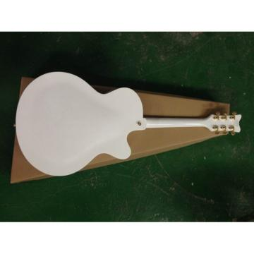 Left Handed White Gretsch Falcon 6120 Jazz Guitar