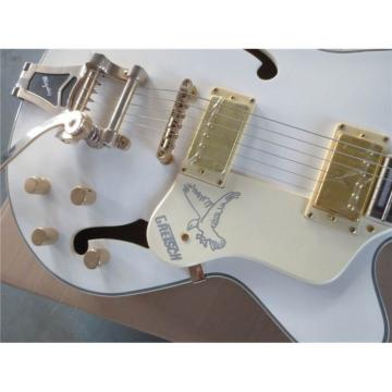 Custom Shop Gretsch Fhole White Brian Setzer Guitar
