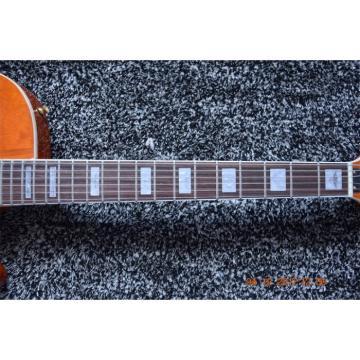 Custom Shop Gretsch 6 String Orange Transparent Electric Guitar