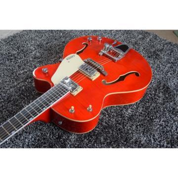 Custom Gretsch Red Orange Brian Setzer Model Guitar Horseshoe Symbol