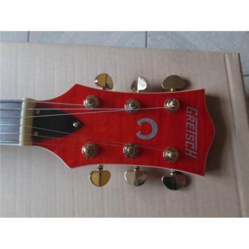 Custom Shop 6120 Gretsch Flame Maple Top Orange Jazz Guitar