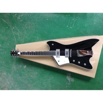 Custom Gretsch Left Handed G6199 Billy-Bo Jupiter Thunderbird Black Authorized Bridge Guitar White Pickguard