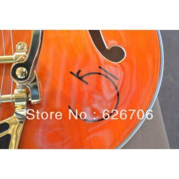 Custom G6120 Gretsch Left Handed Orange Electric Guitar