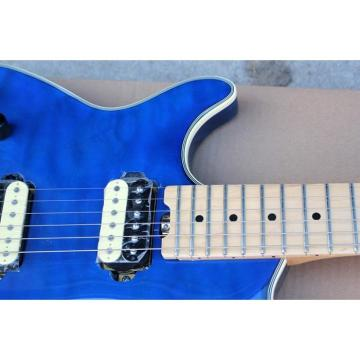 Custom Left Handed EVH Peavey Electric Guitar Blue Quilted Maple Top