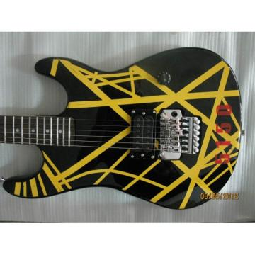 Custom Shop EVH 5150 Yellow Black Electric Guitar