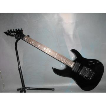 Custom Shop LTD Jet Black Electric Guitar