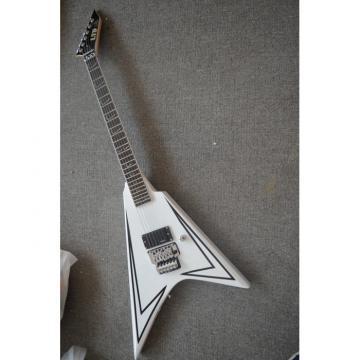 Custom Shop LTD Flying V Alexi Laiho White Electric Guitar