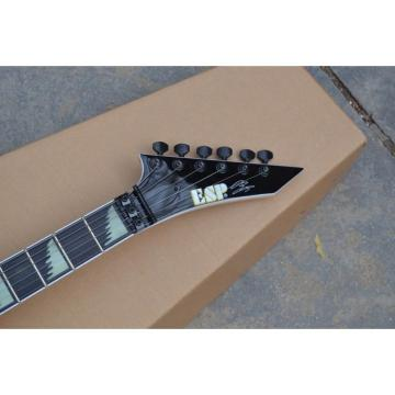 Custom Shop ESP Flying V Alexi Laiho Greeny With Skull Electric Guitar