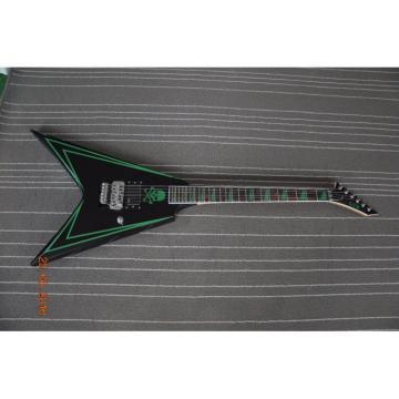 Custom Shop Authorized EMG Pickups Flying V ESP Guitar Black