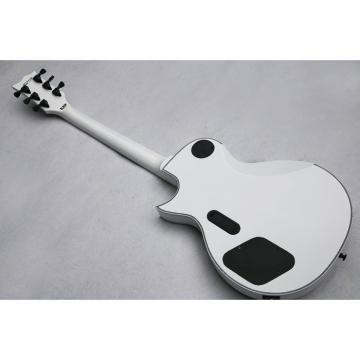 Custom ESP Metallica James Hetfield Iron Cross  Snow White w/ Stripes Graphic Guitar