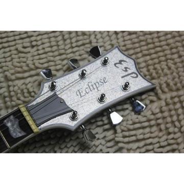 Custom LTD Deluxe ESP Silver Dust Electric Guitar