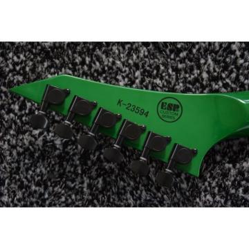 Custom Built Dan Jocobs Flying V ESP LTD Green Guitar