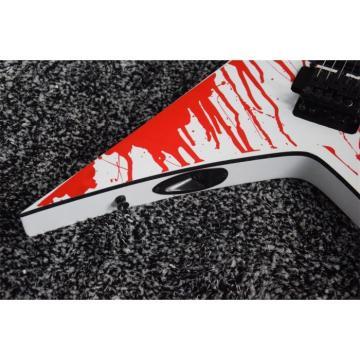Custom Built Dan Jacobs Flying V ESP LTD Blood Spatter Guitar