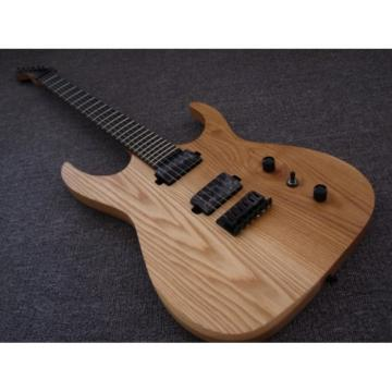 Custom Shop Black Machine 6 String 3 Piece Mahogany Neck Ash Wood Guitar