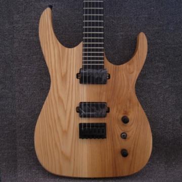 Custom Shop Black Machine 6 String 3 Piece Mahogany Neck Ash Wood Guitar