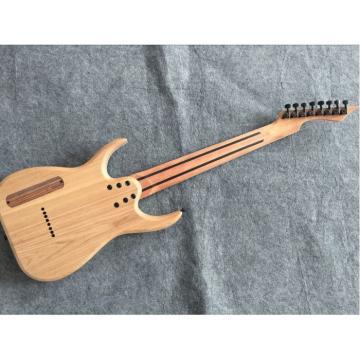 Custom Measurements Black Machine 8 String Natural Wood Black Electric Guitar