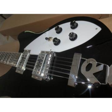 Custom 2 Pickups Rickenbacker 330 Black 12 String Guitar