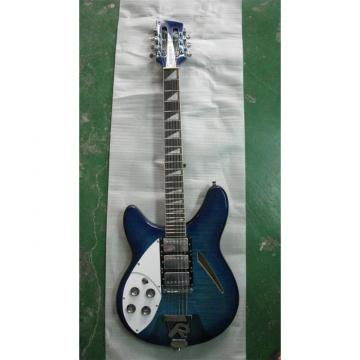 Custom 12 Strings Rickenbacker 360 Blue Flame Maple Top Guitar