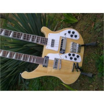 Custom 4003 Double Neck Naturalglo 4 String Bass 12 String Guitar