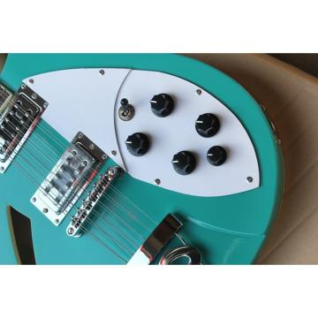 12 Strings Custom 360 2 Pickups Teal Green Electric Guitar