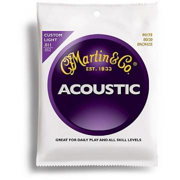 Martin M175 80/20 Bronze Custom Light Acoustic Guitar Strings