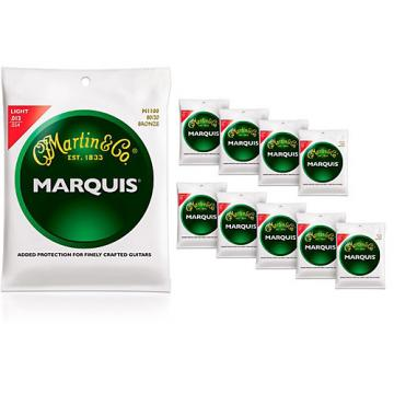 Martin M1100 Marquis 80/20 Bronze Light 10-Pack Acoustic Guitar Strings
