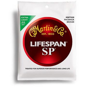 Martin MSP7000 SP Lifespan Phosphor Bronze Extra Light Acoustic Guitar Strings