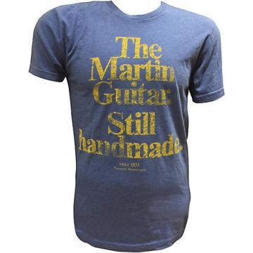 Martin Guitar Still Handmade - Royal T-Shirt with Gold Logo XX Large