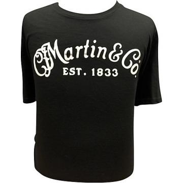 Martin Guitar T-Shirt with White Logo Medium